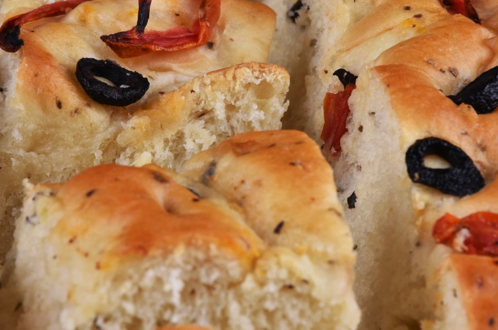 Cravity Sundried Tomatoes and Olive Focaccia Bread
